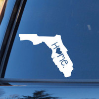 Florida Home Decal | Florida State Decal | Homestate Decals | Love Sticker | Love Decal  | Car Decal | Car Stickers | Bumper | 049