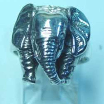 Genuine Sterling silver Zoo Animal Baby African Asian Elephant head trunk ring Pick Your Ring Size We Have Sizes 3 to 14