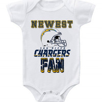 NEW Football Baby Bodysuits Creeper NFL San Diego Chargers