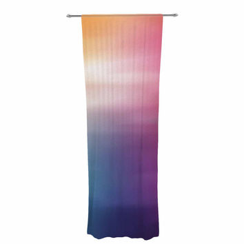 "Chelsea Victoria ""Color Rush"" Multicolor Love Decorative Sheer Curtain"