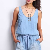 Chill+Chambray+Romper