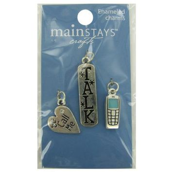 Cell Phone Enameled Charms