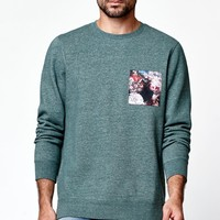 On The Byas Busta Pocket Crew Neck Sweatshirt - Mens Hoodies - Green