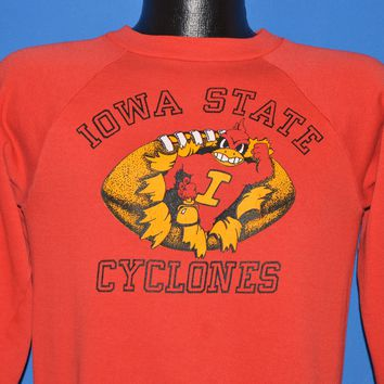 80s Iowa Cyclones College Football Sweatshirt Small
