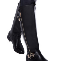 CERSEI QUILTED FLAT BOOT