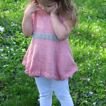 Handknit Toddler Dress Bamboo