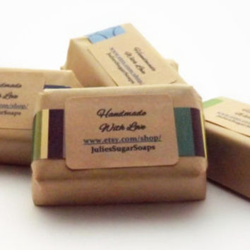 BULK 300 Guest Size Soaps for Wedding Favors, Baby Showers, or Bridal Showers; Natural Glycerin Soap, Personalized Custom Labels