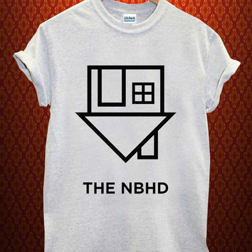 the neighbourhood logo Music tee Ash Grey t Shirt Men and Women T Shirt more size available