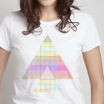 Colorful Arrow Tee - bright pastel colors men women kids organic t shirt art print arrowhead white hipster clothes chic FREE shipping to USA