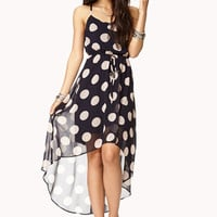 Femme Polka Dot High-Low Dress