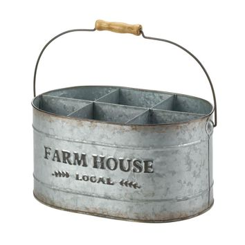 Fir wood And tin Galvanized Metal Metal Wine Bucket