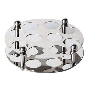 Stainless Steel Wine Cup Glass Holder Stand Round Bullet 3.1cm