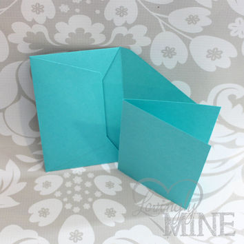 Tiffany Blue Stationary - Cards with Matching Envelope - Set of 12