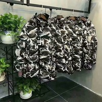 Hooded camouflage thick warm movement hipster cotton coat