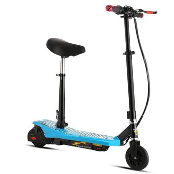 Fashine Electric Kick Scooter with ABS, Retractable Height Adjustable Thick Padded Seat