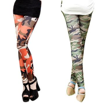Cool Sexy Ladies Camouflage Army Print Stretch Jeggings Pants Leggings Trousers