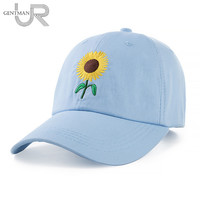 New Fashion Sunflower Embroidery Baseball Caps Cotton Snapback Hats Caps For Men Women Adjustable Couple Cap