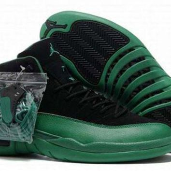 AIR JORDAN 12 XII Retro Men's Shoes Green/Black