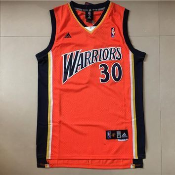 Men' s Golden State Warriors #30 Stephen Curry Hardwood Classics Red Jersey
