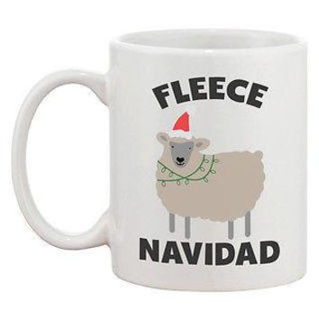 Fleece Navidad Cute Holiday 11oz Coffee Mug Cup  Funny Christmas Gift Idea