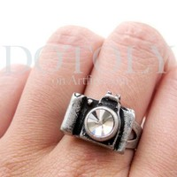 Adjustable Camera Ring in Silver with Antique Finish | dotoly - Jewelry on ArtFire