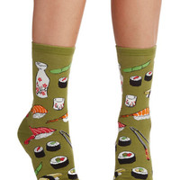 ModCloth Quirky Say What You Sushi Socks
