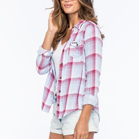 Vanilla Star Plaid Womens Shirt Red Combo  In Sizes