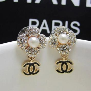 Chanel Stylish Ladies Four Leaf Clover Earring+Best Gift