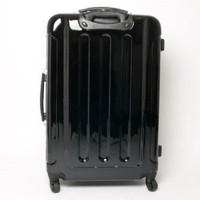 "Swiss case luggage spinner gloss black large 28"" suitcase"
