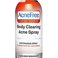 AcneFree Body Clearing Acne Treatment Spray for Body Acne and Back Acne, Treatment with Salicylic Acid 2% and Glycolic Acid , 5 Ounce