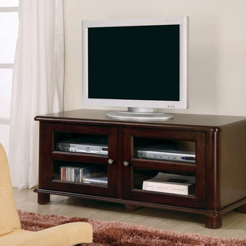 Coaster Fine Furniture Cappuccino Tv Console Merlot 700610
