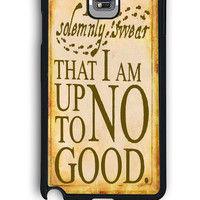 Samsung Galaxy Note 4 Case - Rubber (TPU) Cover with i somemnly swear harry potter Design