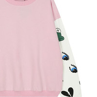 Cartoon Print Sleeve Sweatshirt