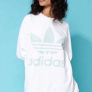 adidas Adicolor White Oversized Sweatshirt at PacSun.com
