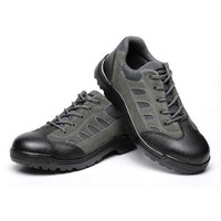 MENS' Nubuck Leather Work Safety Shoes Boot Smash-proof Penetration-resistant