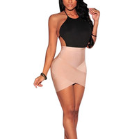 Sexy Women Backless Mini Dress Party Evening Bandage Bodycon Dresses