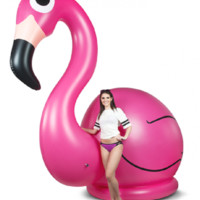 Giant Inflatable Pink Flamingo Pool Toy - Stands 10 Feet Tall!