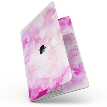 "Pink v4 Absorbed Watercolor Texture - 13"" MacBook Pro without Touch Bar Skin Kit"
