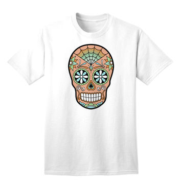 Version 6 Copper Patina Day of the Dead Calavera Adult T-Shirt