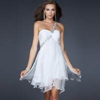 [grhmf26000149]Sexy Sweet Strapless Dress With Rhinestone
