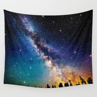 Tree Wall tapestriy Space wall tapestry Galaxy wall art Nebula wall tapestry Blue space tapestry Galaxy tapestry Space wall hanging Space