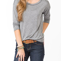 Contrast Stitch Long Sleeve Top