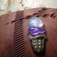 Ice Cream Orgonite, spiritual gifts, purple and gold,