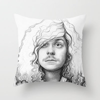 Workaholics Blake Portrait Throw Pillow by Olechka
