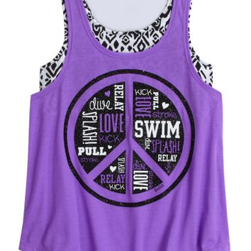 TRIBAL SPORTS 2 IN 1 TANK | GIRLS ACTIVE OUTFITS NEW ARRIVALS | SHOP JUSTICE