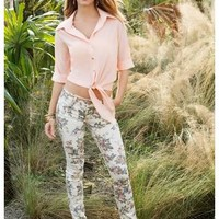 ALMOST FAMOUS BOLD FLORAL PRINT JEANS