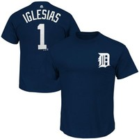 Majestic Jose Iglesias Detroit Tigers Name and Number T-Shirt - Navy Blue
