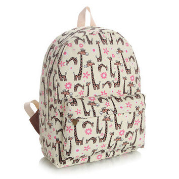 Lovely Cute Canvas Korean Backpack = 4887520708