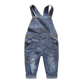 New Arrival baby pants Boys girls trouser jeans denim jumpsuit overoles kids Spring And Autumn Children Jeans Jumpsuits Clothes