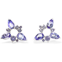Fernando Jorge - Electric Spark 18-karat white gold tanzanite earrings